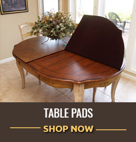 the most effective way to keep a dining room table looking like new and getting the maximum usage out of it is with a table protector pad